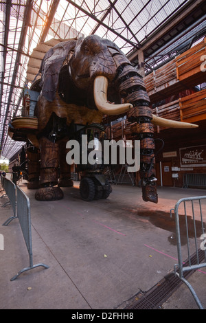 The Great Elephant in Nantes, France. - Stock Photo