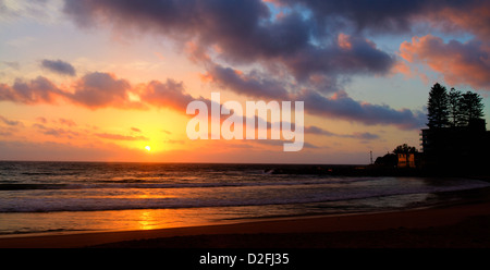 Sunrise in Dee Why Beach - Stock Photo