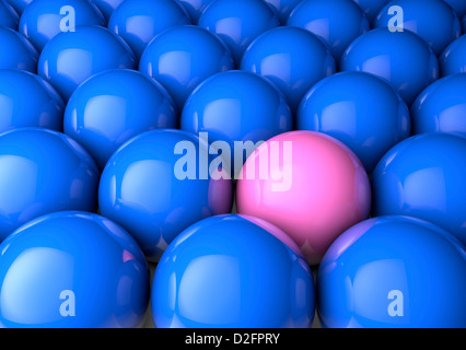 Odd one out / difference / male female inequality / equality concept - Stock Photo