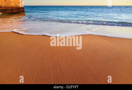 Portugal, Algarve: Detail of untouched beach near Carvoeiro - Stock Photo