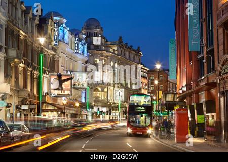 Shaftesbury Avenue theatres - Stock Photo