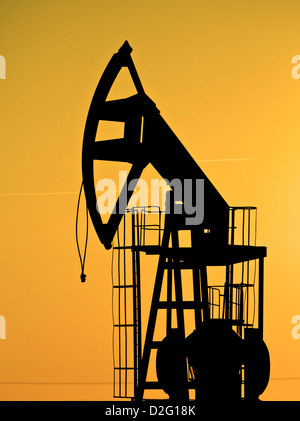 pump jack out of order - Stock Photo