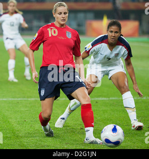 Kelly Smith of England (10) in action during a FIFA Women's World Cup quarterfinal match against the United States. - Stock Photo