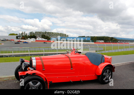 Bugatti on show at the Silverstone Classic Cars Event July 2012 - Stock Photo
