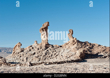 Tres Marias Valle de Luna Valley of the Moon, Atacama Desert Chile South America - Stock Photo