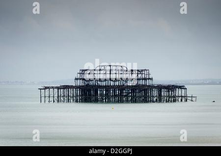 West Pier, Brighton, Sussex, England - Stock Photo
