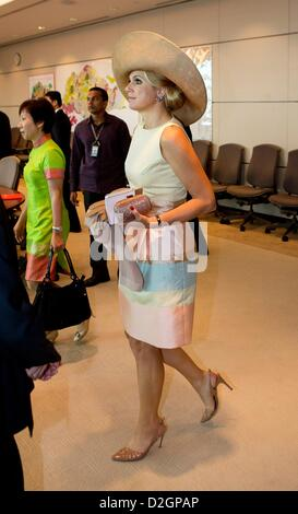 Singapore. 24th January 2013. Princess Maxima of The Netherlands attends a meeting with CEO's in Singapore, Singapore, - Stock Photo