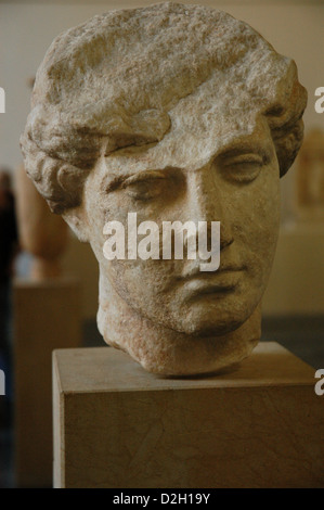 Unfinished bust of woman. 440-430 BC. Found in Athens. Pergamon Museum. Berlin. Germany. - Stock Photo