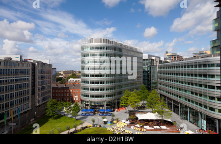 England, Manchester The Spinningfields Banking district - Stock Photo