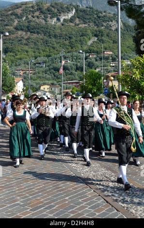 Band Competition, Malcesine, Lake Garda, Italy, Europe - Stock Photo