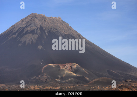 Pico do Fogo Volcano in Cha das Caldeiras on the island of Fogo, Cape Verde, Africa - Stock Photo