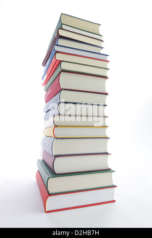 Berlin, Germany, with a stack of various books - Stock Photo