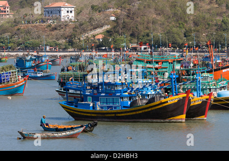 Fishing Boats, Vung Tau, Vietnam - Stock Photo