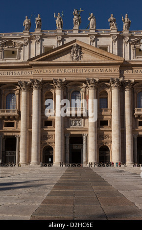 Entrance portico to St Peter's Basilica, The Vatican, Rome - Stock Photo