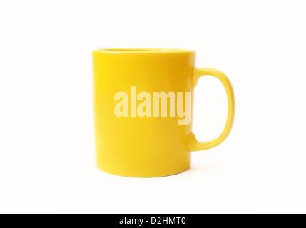 Yellow mug - Stock Photo