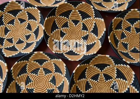 baskets, Azizi Life, handicrafts for sale, Muhanga, Rwanda - Stock Photo