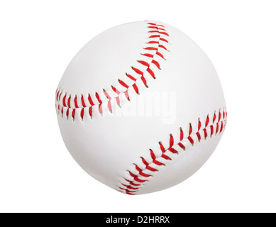 Clean new baseball isolated with clipping path.