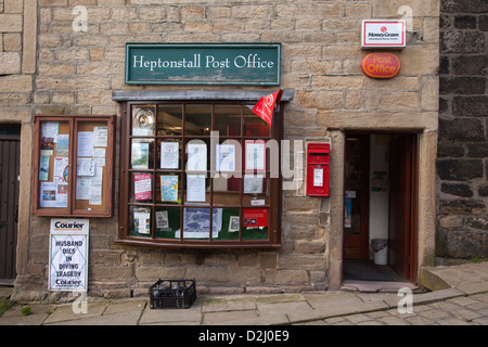 Heptonstall Village Post Office, West Yorkshire - Stock Photo