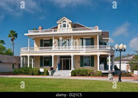 Galvan House (1908), Heritage Park in Corpus Christi, Gulf Coast, Texas, USA - Stock Photo