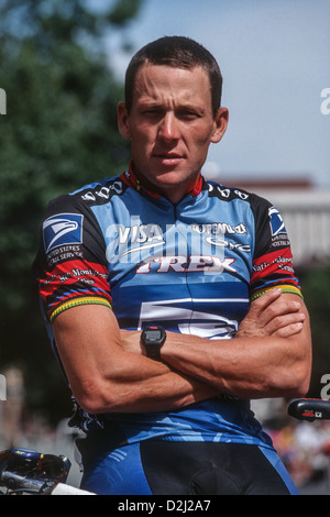 Lance Armstrong competing for the US Postal Service Team at the 1998 First Union US PRO Cycling Championships. - Stock Photo