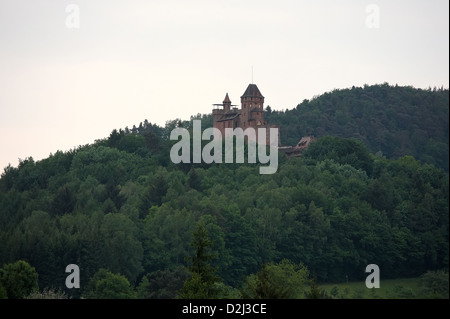 Erlenbach bei Dahn, Germany, Burg Berwartstein - Stock Photo