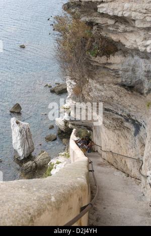Corsica: Bonifacio - Escalier du Roi d'Aragon [187 steps]