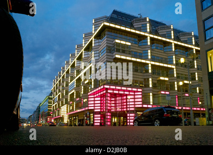 Berlin, Germany, Quartier 206 on Friedrichstrasse in the evening - Stock Photo
