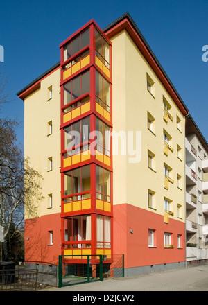 Berlin, Germany, reconstructed home of the cooperative Berlin in Berlin-Wedding - Stock Photo