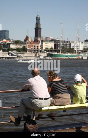 Hamburg, Germany, on the Elbe people