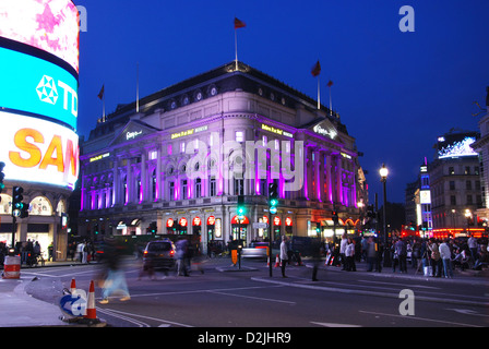 Piccadilly Circus London United Kingdom - Stock Photo