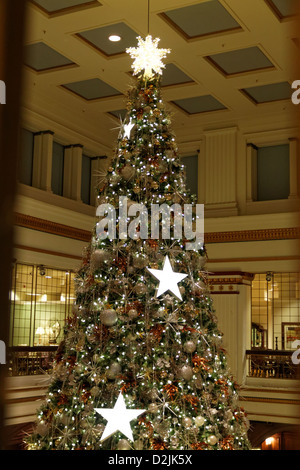 Christmas Tree Decorations At Macy S Department Store In