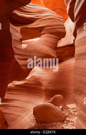 Lower Antelope Slot Canyon, Page, Arizona, USA - Stock Photo