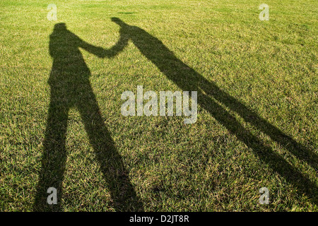 Berlin, Germany, the shadow of two people - Stock Photo