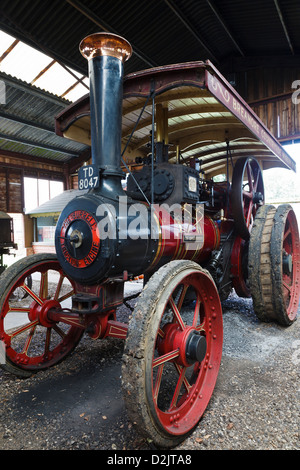 Burrell traction engine (1926) 'The Dreadnought', Breamore Countryside Museum, New Forest, Hampshire England - Stock Photo