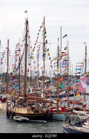 Old Gaffers festival in Yarmouth, Isle of Wight, England - Stock Photo