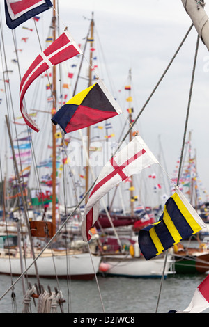 Old Gaffers festival in Yarmouth - Stock Photo