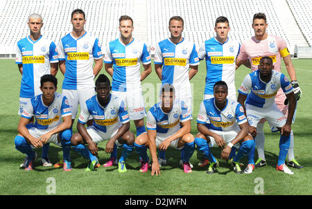 CAPE TOWN, South Africa - Saturday 26 January 2013, Team Grasshopper Club Zurich during the soccer/football match - Stock Photo