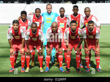 CAPE TOWN, South Africa - Saturday 26 January 2013, Team Ajax Cape Town during the soccer/football match Grasshopper - Stock Photo