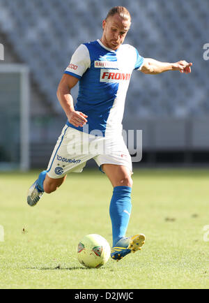 CAPE TOWN, South Africa - Saturday 26 January 2013, Michael Lang of Grasshopper Club Zurich during the soccer/football - Stock Photo