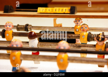 Hamburg, Germany, detail of an old foosball table - Stock Photo