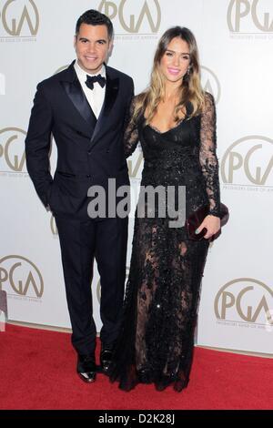 Jan. 26, 2013 - Los Angeles, California, U.S. - Jessica Alba, Cash Warren  attend  24th Annual Producers Guild Awards - Stock Photo