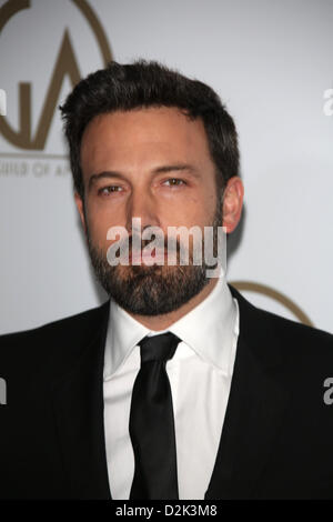 US actor, director and producer Ben Affleck arrives at the 24th annual Producers Guild Awards at Hotel Beverly Hills - Stock Photo