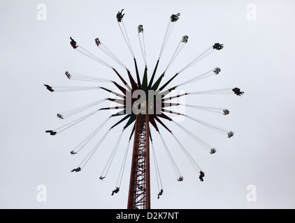 Berlin, Germany, people in a whirligig - Stock Photo