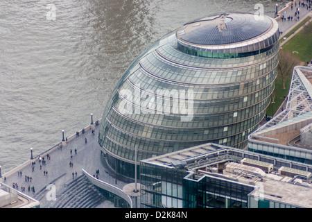 London City Hall from the Shard - Stock Photo