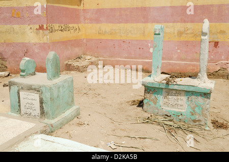 cairo muslim cemetery in egypt - Stock Photo