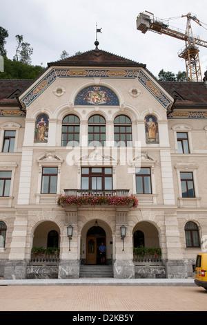 Vaduz, Liechtenstein, the government building of the Principality of Liechtenstein - Stock Photo