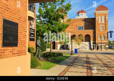Civil Rights Institute & Sixteenth Street Baptist Church,Birmingham,Alabama,USA - Stock Photo