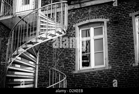 A detail of a building in Stavanger - Norway - Stock Photo
