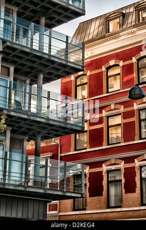 Modern and old buildings in Stavanger - Norway - Stock Photo