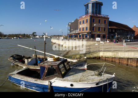 united kingdom west sussex littlehampton on sea a view of the town and harbour - Stock Photo